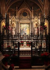 L'altare del Santuario delle Grazie di Brescia