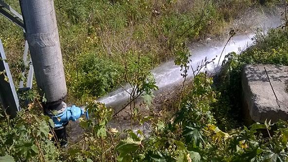 Patti. Copiose perdite di condutture idriche in contrada Case Nuove