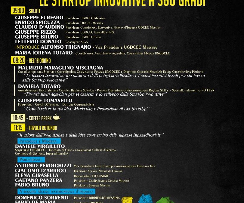 Messina. Startup innovative a 360 gradi