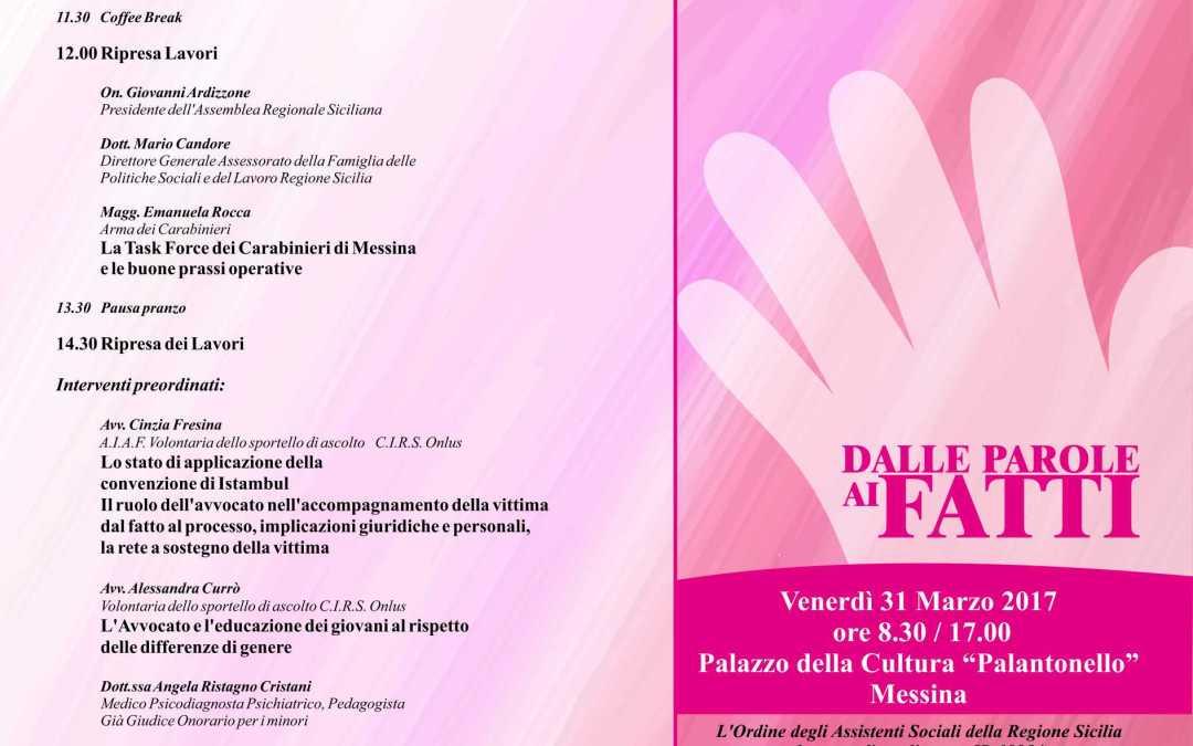 Messina. Convegno Cirs su servizi per donne vittime di violenza