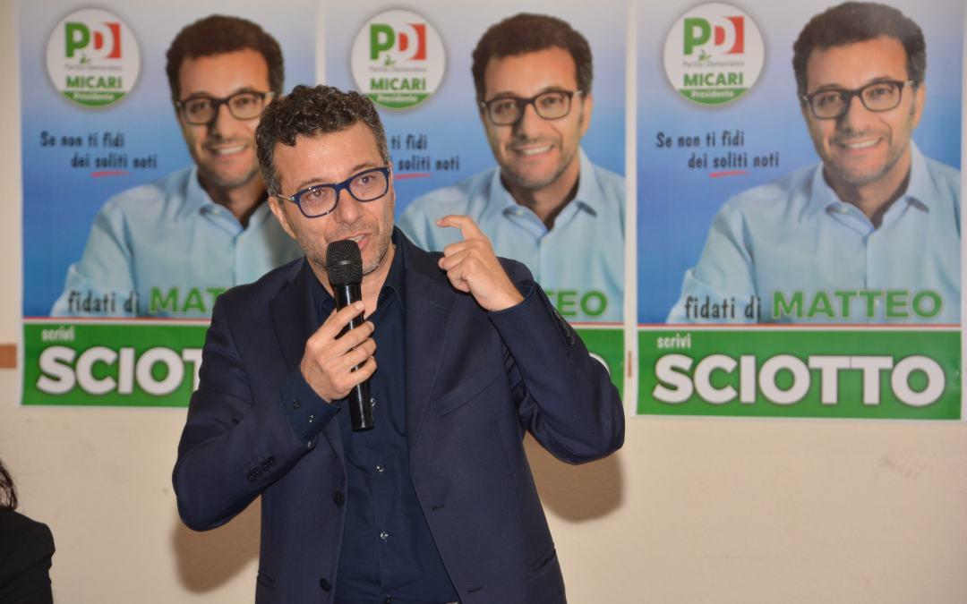 """Post-Elezioni. Matteo Sciotto (PD): """"Risultato personale ottenuto importante, pronto a dare il mio contributo per rilancio iniziativa politica"""""""