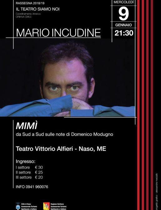 Naso. Mario Incudine festeggia Domenico Modugno al Teatro Alfieri