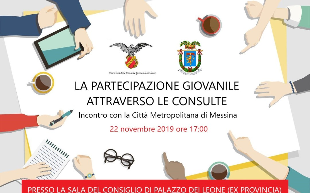 Consulte Giovanili Siciliane. Al via primo incontro provinciale delle consulte di Messina