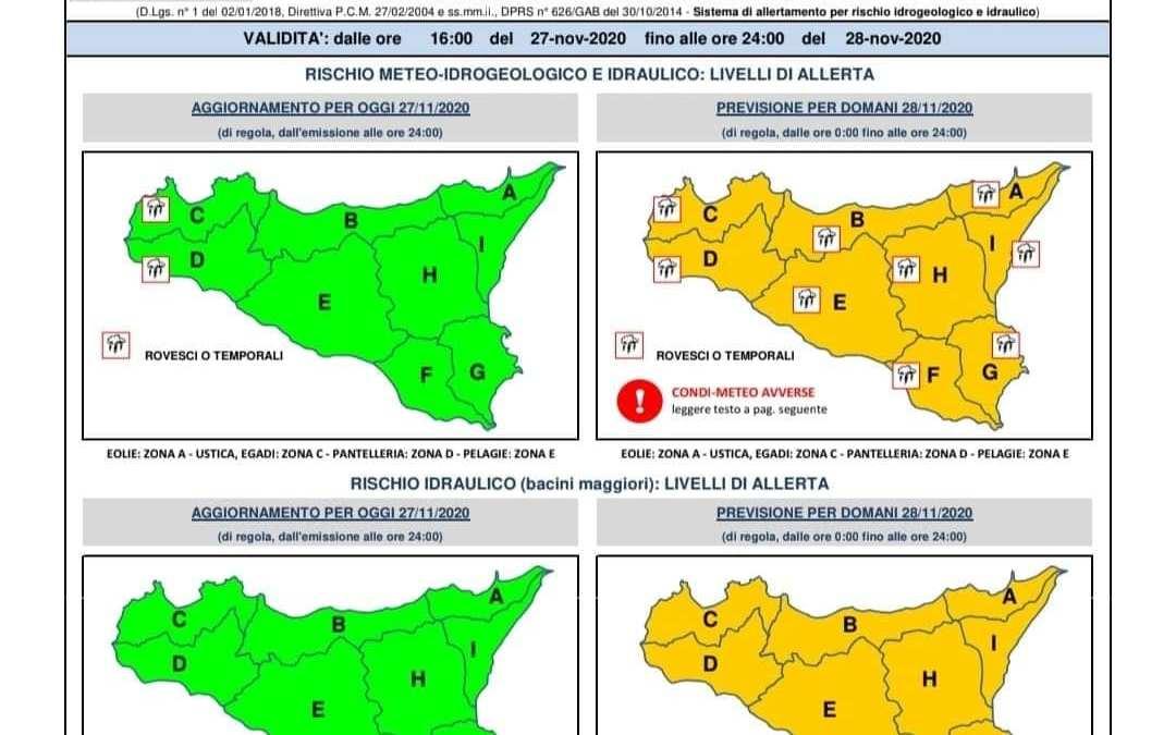 """Temporali e forte pioggia a Milazzo e Barcellona PG. 'Allerta arancione' da Protezione Civile: """"In arrivo oltre 50 mm di acqua"""""""