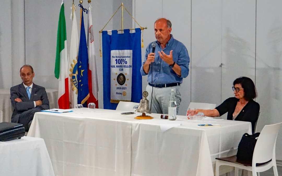 """Milazzo. Relazione del sindaco Midili al Rotary: """"Restituire alla città quel ruolo di centralità"""""""