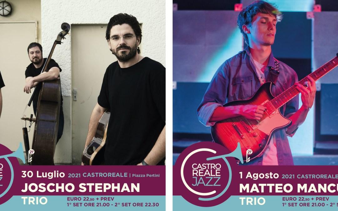 Castroreale Jazz Festival 2021. Start con due concerti, venerdì 30 luglio e domenica 1 agosto: Joscho Stephan Trio e Matteo Mancuso Trio