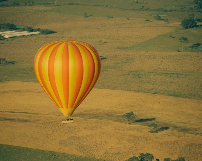 Take a hot air balloon and look at the city from God's perspective