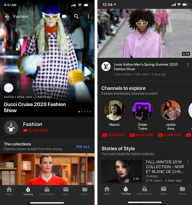 YouTube launched a separate project dedicated to fashion