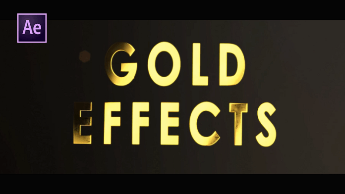 Gold Title Animation in After Effects - Gold Text After Effects Tutorial