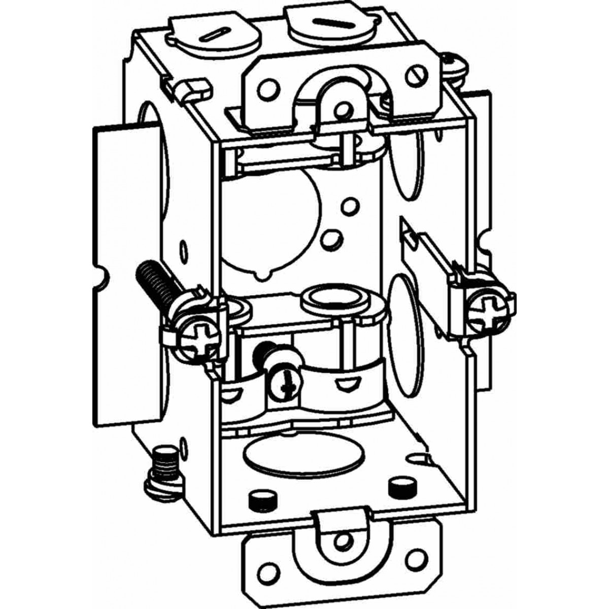 Electrical Junction Box Wire Clamp