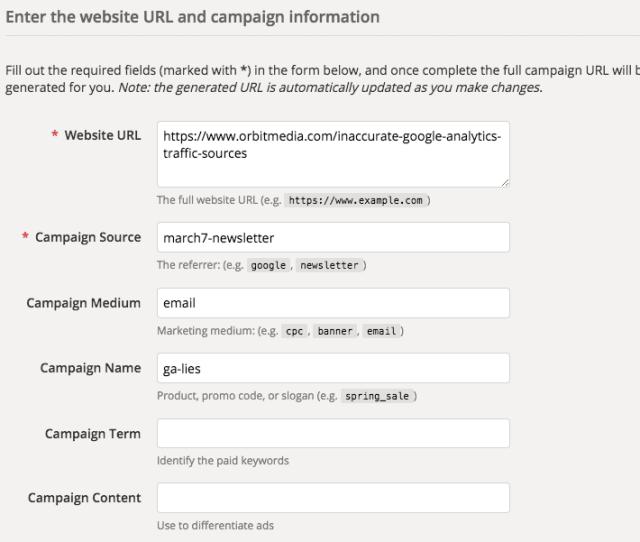 How Do I Use The Google Analytics Url Builder