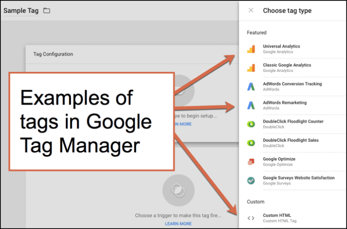 Image result for types of tags in google tag manager