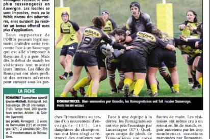 1811 pages sport après match vs Sassenage