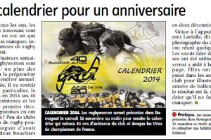 Article publié dans les pages locales La Montagne le 5 novembre 2013.