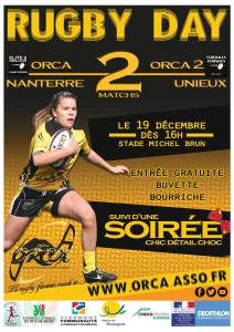 L'affiche des prochains matches Créée par le club avec photo de Laurent Laviale
