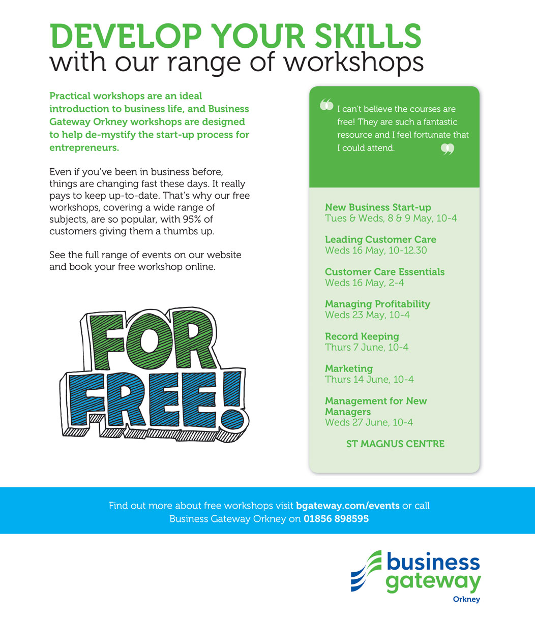 Business Gateway Develop Your Skills With Our Range Of Workshops