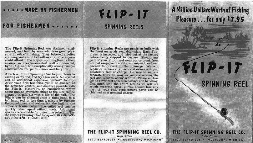 Flip-It Spinning Reel Co. - schematics