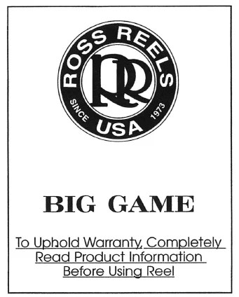 Ross Reels USA - schematics