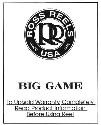 Ross Reels USA - schematics