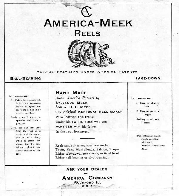 America-Meek 1905 Box Ad