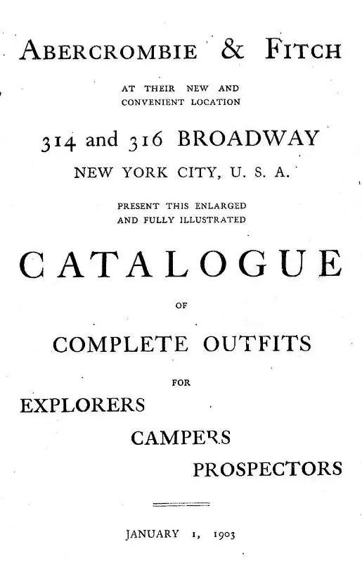 A&F 1903 Catalog Cover