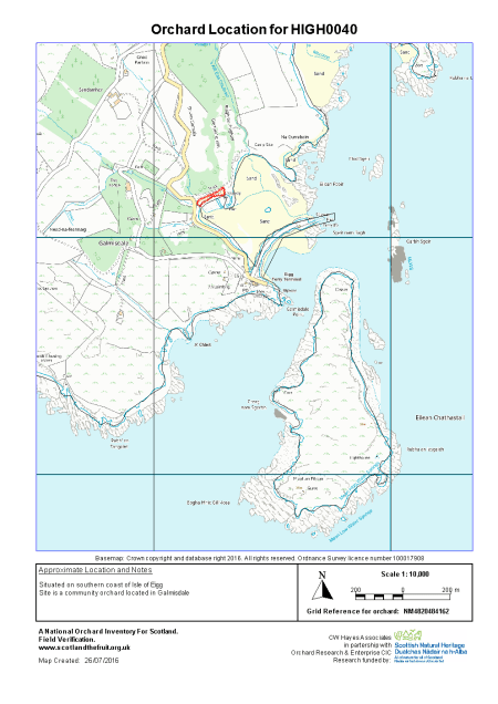A map of Isle of Eigg Community Orchard