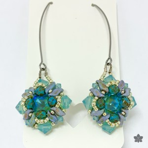 beach dunes earrings aqua