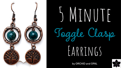 5 Minute DIY Beaded Earrings | Repurposing Toggle Clasps