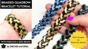 Braided Quadbow Beaded Bracelet Tutorial (2)