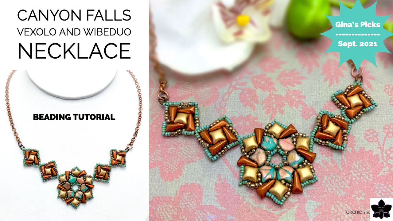 Canyon Falls Vexolo and WibeDuo Beaded Necklace Tutorial