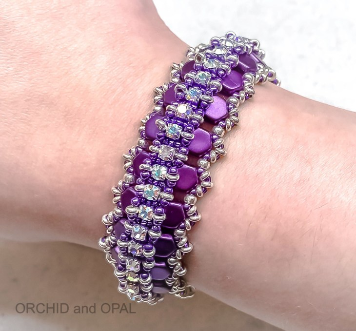 glacier lagoon bracelet - purple/silver