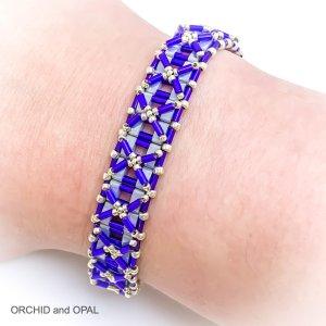 blue silver half nexus bracelet