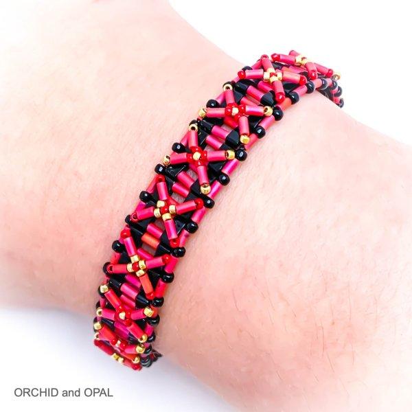 half nexus bracelet red black