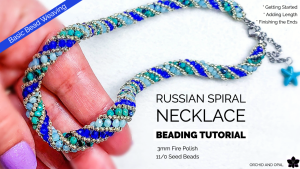 russian spiral beaded rope necklace tutorial