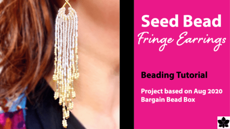 Seed Bead Fringe Earrings Tutorial