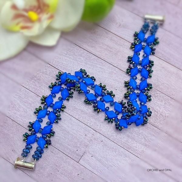 Starlight GemDuo Bracelet - Bright Blue