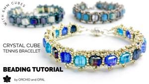 crystal cube tennis bracelet beading tutorial