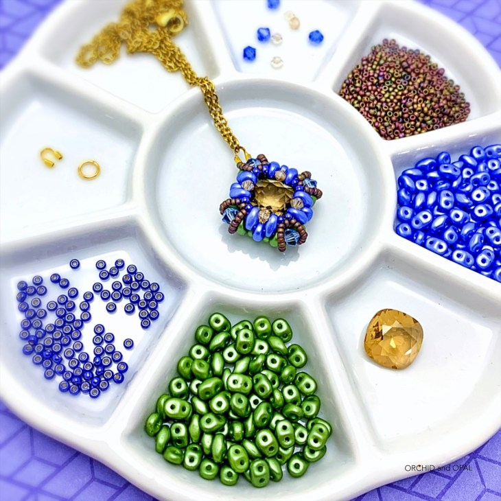 tranquil spring beaded pendant necklace tutorial