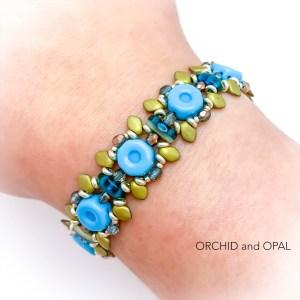 briar rose bracelet blue gold