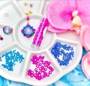 paradise aquatic earrings