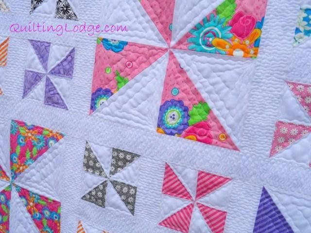 Quilting Lodge Pinwheel Quilt ~ Close Up
