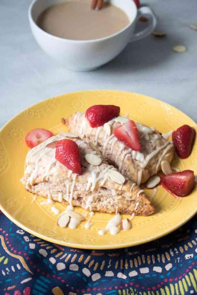 Strawberry Cream Cheese Breakfast Scones