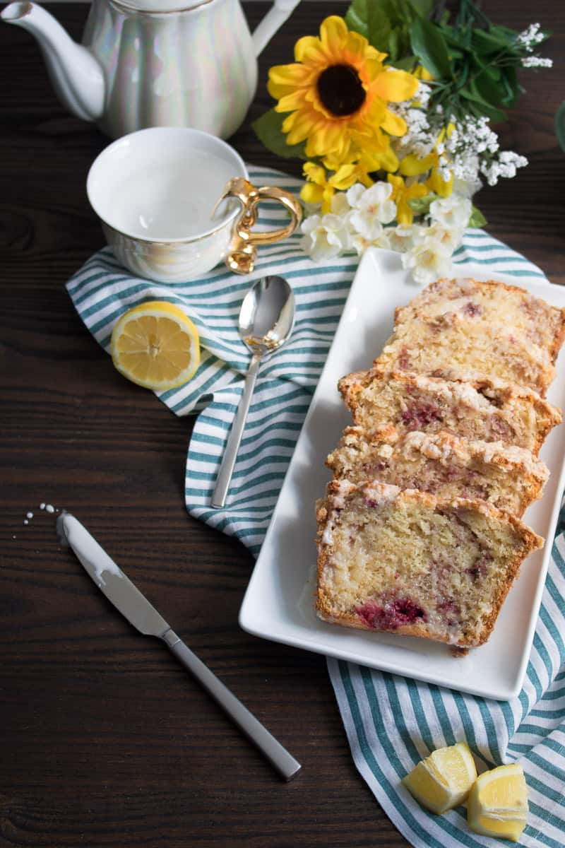 Breakfast Lemon Raspberry Coffee Cake