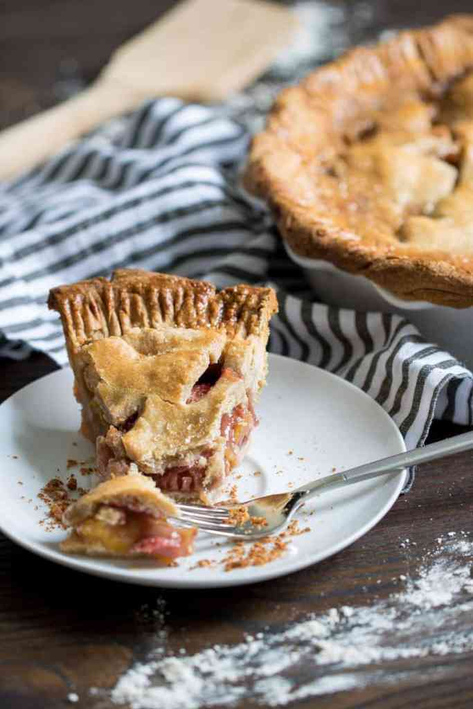 Cinnamon Whole Wheat Strawberry Peach Pie