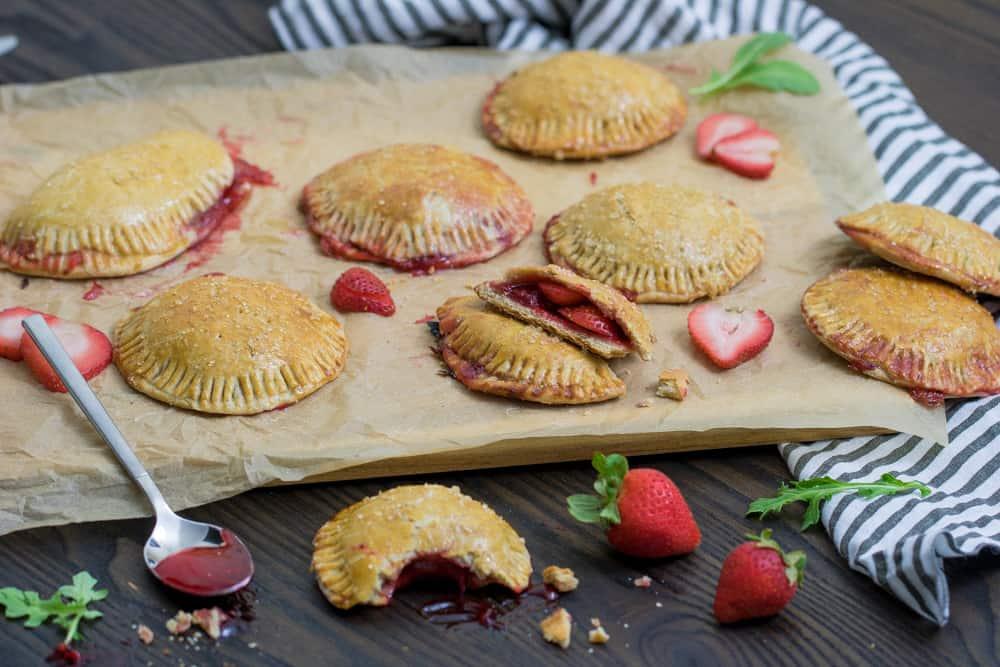Easy Strawberry Cinnamon Whole Wheat Hand Pies