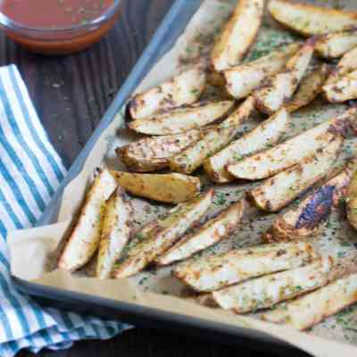 Crispy Baked Jerk Potato Wedges
