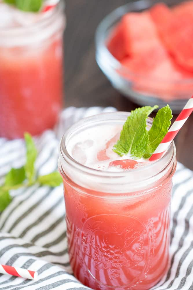 Fresh Watermelon Cucumber Mint Juice