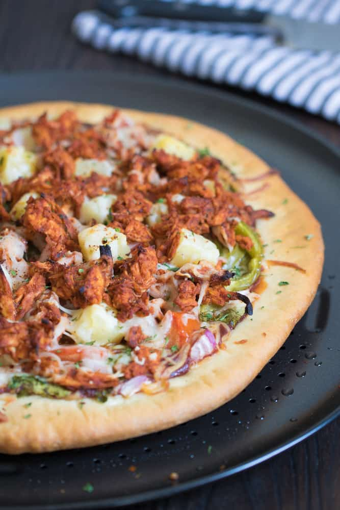 Hawaiian BBQ Buffalo Chicken Pizza