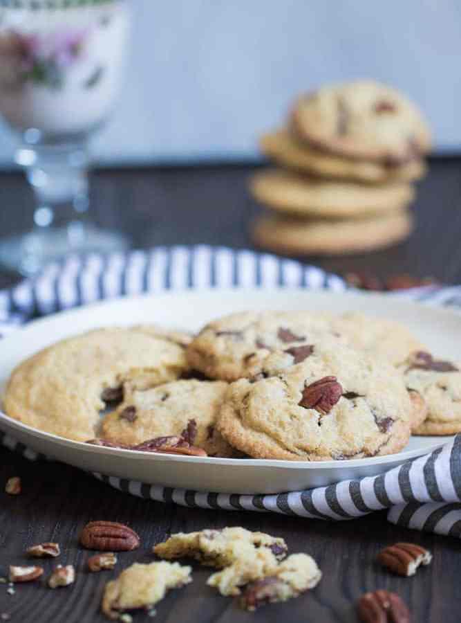 Soft Butter Pecan Cookies