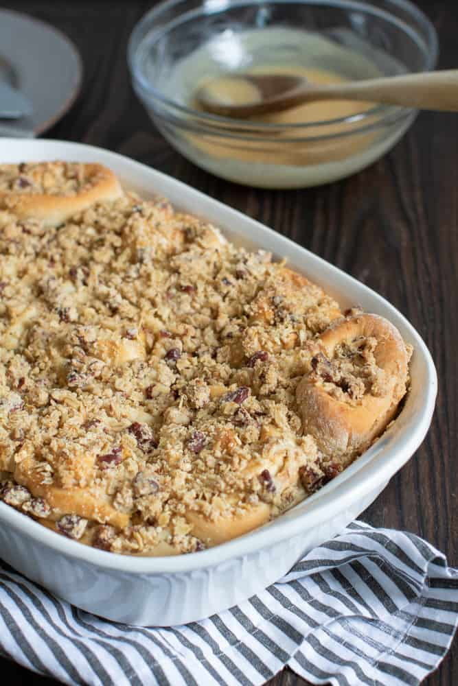 Perfect Apple Streusel Cinnamon Rolls